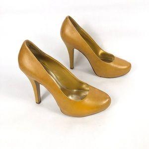 Bakers Avery Women's Yellow Round Toe Pump Heels